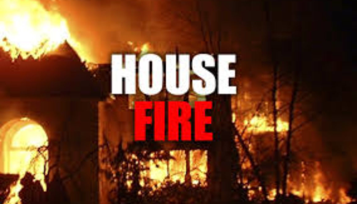 Mother son injured as fire destroys their home