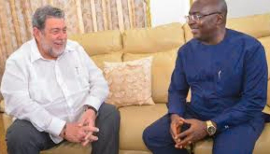 St. Vincent and the Grenadines are hosting the President of Ghana Nana Addo Dankwa Akufo Addo for two days June 12 and 13