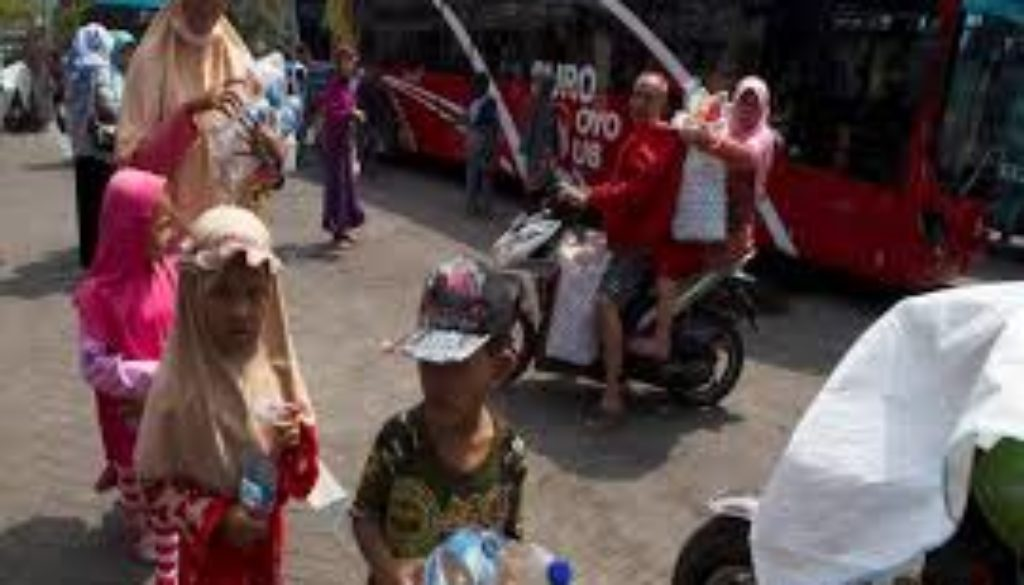 Indonesia launches new initiative plastic waste for bus ticket