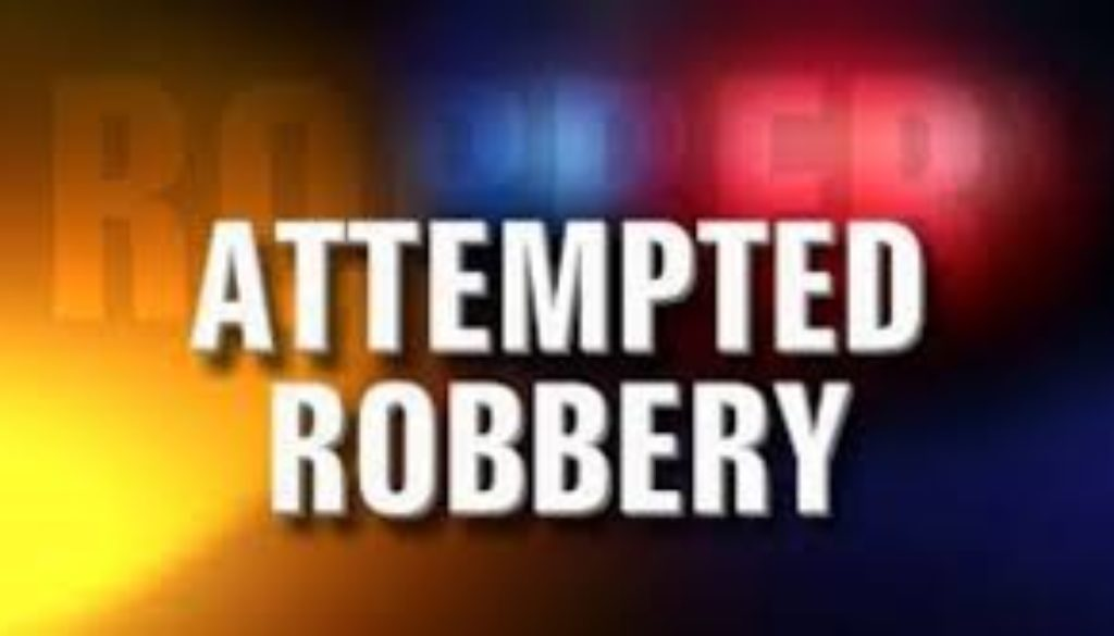 Police are treating an incident on April 10 where four men held up a business establishment close to Baker's Corner as an attempted robbery